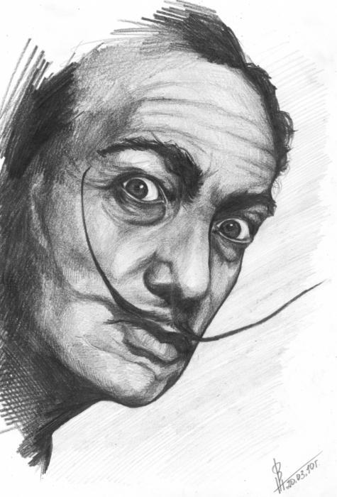 salvador dali portraits - Khafre